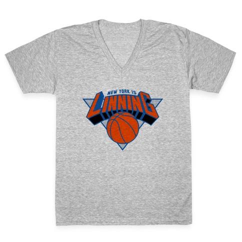 New York is Linning V-Neck Tee Shirt