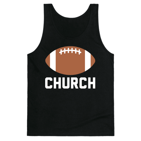 Football Church Tank Top