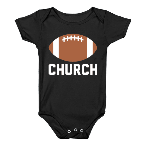 Football Church Baby Onesy