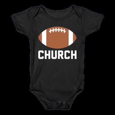 Football Church Baby Onesy