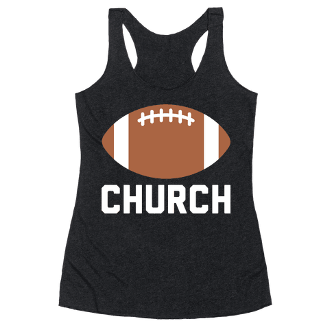 Football Church Racerback Tank Top