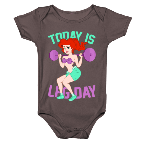 Today Is Leg Day Baby One-Piece