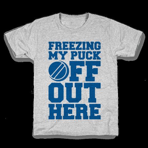 Freezing My Puck Off Kids T-Shirt