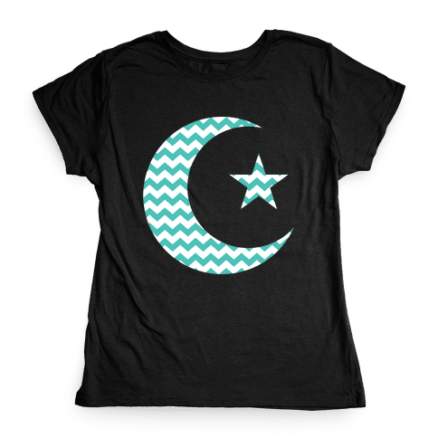 Star And Crescent Womens T-Shirt