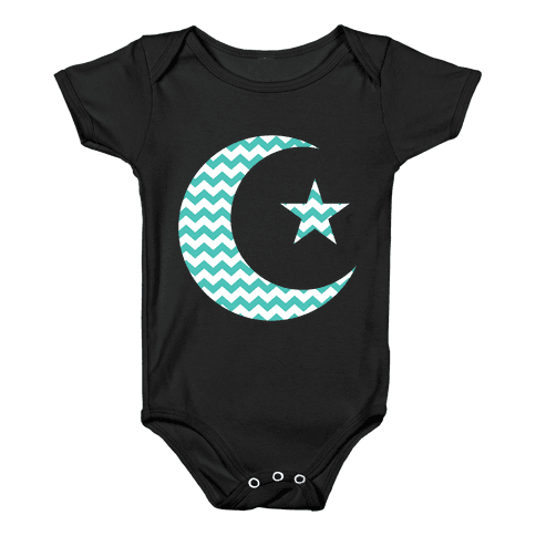 Star And Crescent Baby Onesy