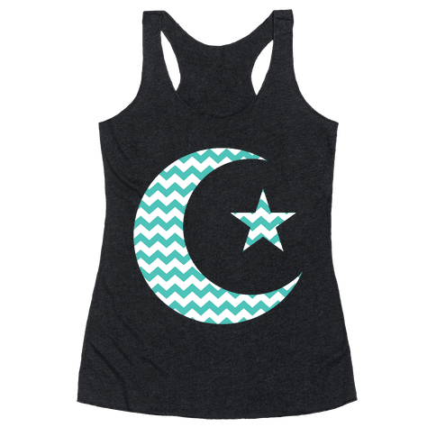 Star And Crescent Racerback Tank Top