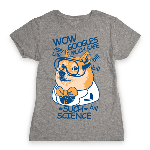 Science Doge Womens T-Shirt