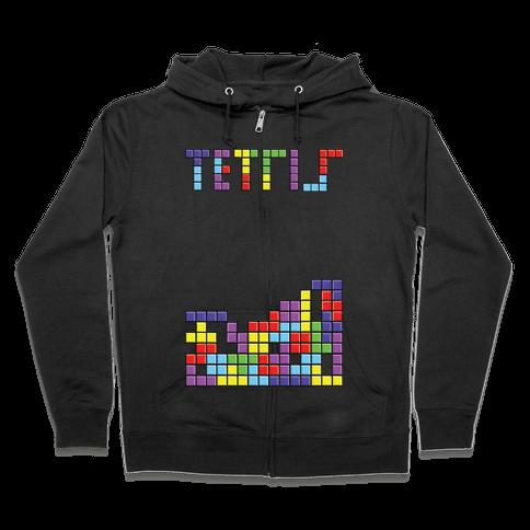 Tetris: Best Game Of All TIme Zip Hoodie