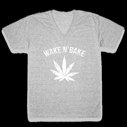 Wake N' Bake V-Neck Tee Shirt