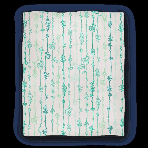 Scribble Doodle Pattern Blanket
