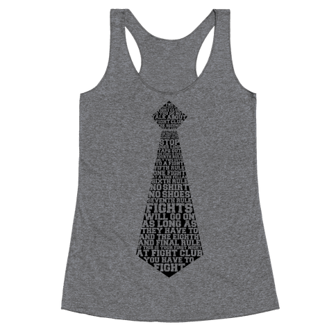 First Rule of Fight Club Racerback Tank Top
