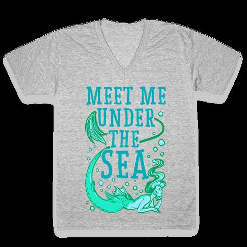 Meet Me Under the Sea V-Neck Tee Shirt