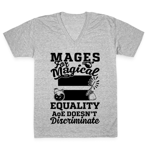 Mages For Magical Equality V-Neck Tee Shirt