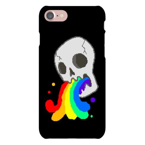 White Skull Wasted (8-bit) Phone Case
