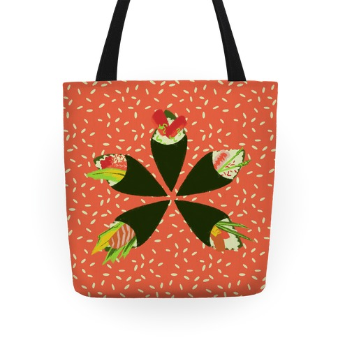Japanese Floral Sushi Tote
