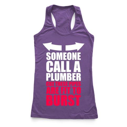Call A Plumber Racerback Tank Top