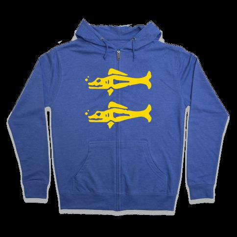 Blue Barracudas Zip Hoodie