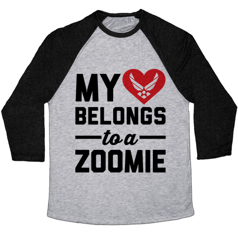 My Heart Belongs To A Zoomie Baseball Tee