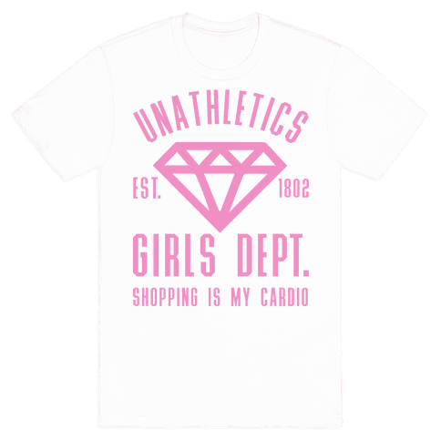 Unathletics Girls Department Shopping Is My Cardio Mens T-Shirt