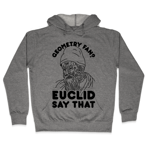 Geometry Fan? Euclid Say That Hooded Sweatshirt
