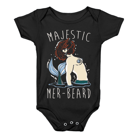 Majestic Mer-Beard Baby Onesy