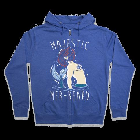 Majestic Mer-Beard Zip Hoodie
