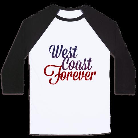 West Coast Forever (Vintage Tank) Baseball Tee