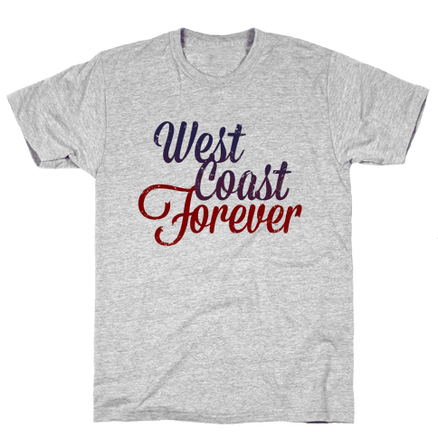 West Coast Forever (Vintage Tank) Mens T-Shirt