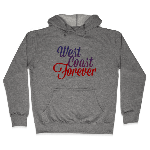 West Coast Forever (Vintage Tank) Hooded Sweatshirt