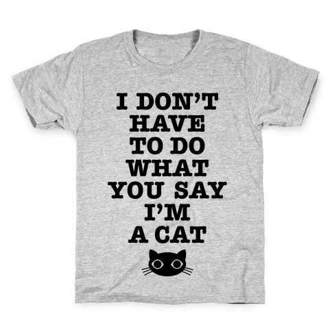 I'm A Cat Kids T-Shirt