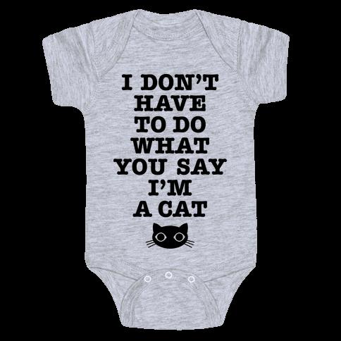 I'm A Cat Baby Onesy