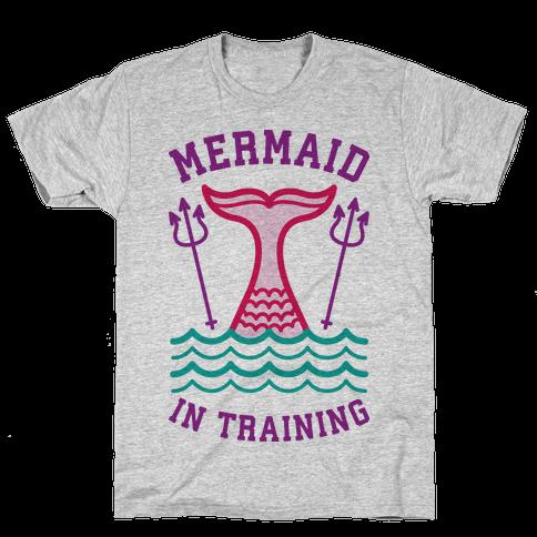 Mermaid In Training Mens T-Shirt