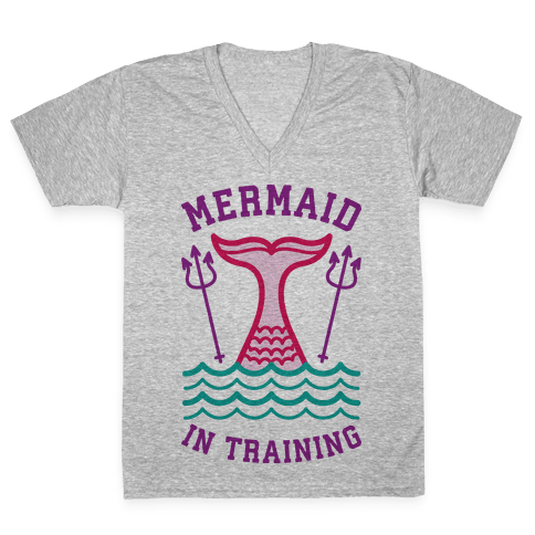 Mermaid In Training V-Neck Tee Shirt