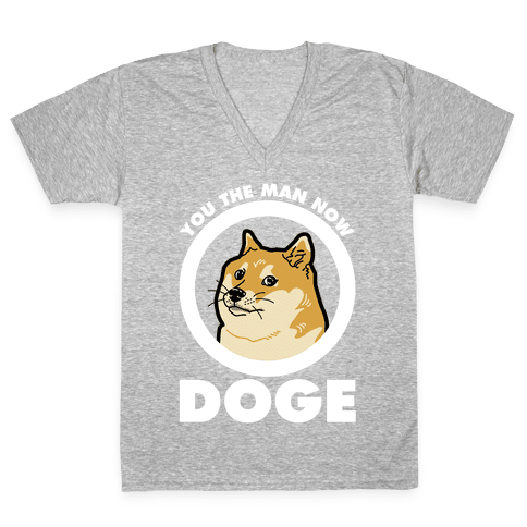 You the Man Now Doge V-Neck Tee Shirt