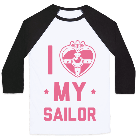 I Heart My Sailor Baseball Tee