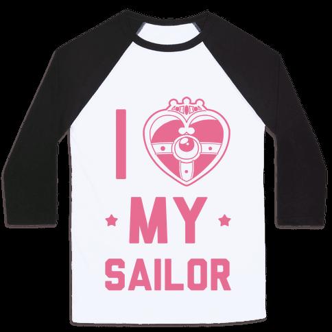 I Heart My Sailor Baseball Tee