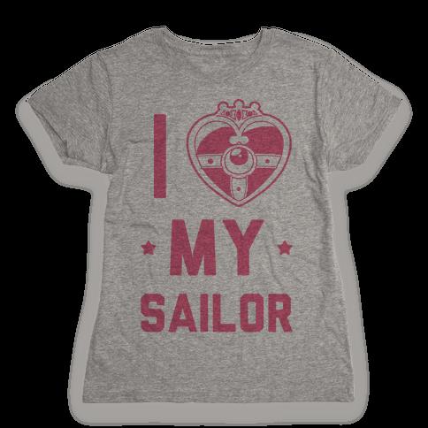 I Heart My Sailor Womens T-Shirt