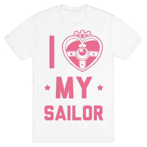 I Heart My Sailor Mens T-Shirt