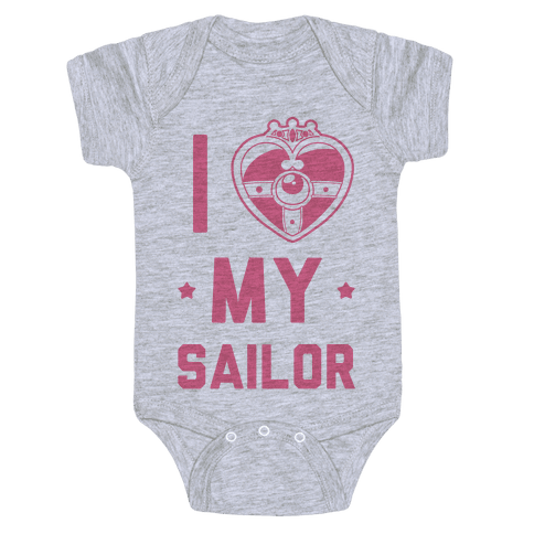 I Heart My Sailor Baby Onesy