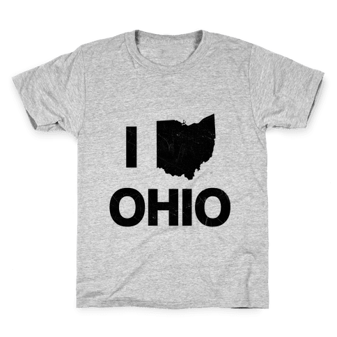 I Love Ohio Kids T-Shirt