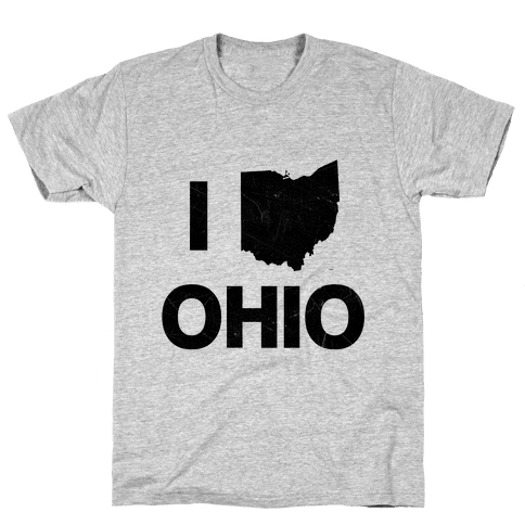 I Love Ohio Mens T-Shirt