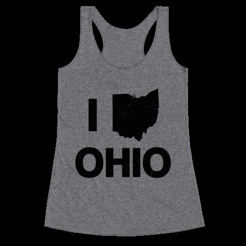 I Love Ohio Racerback Tank Top