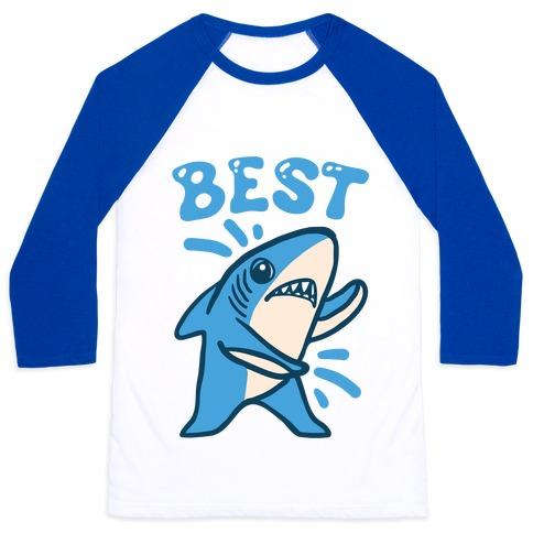 Best Friend Sharks (Part 1) Baseball Tee