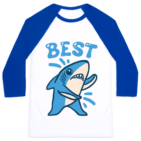 Best Friend Sharks (Part 1) Baseball Tee
