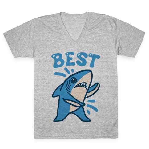 Best Friend Sharks (Part 1) V-Neck Tee Shirt