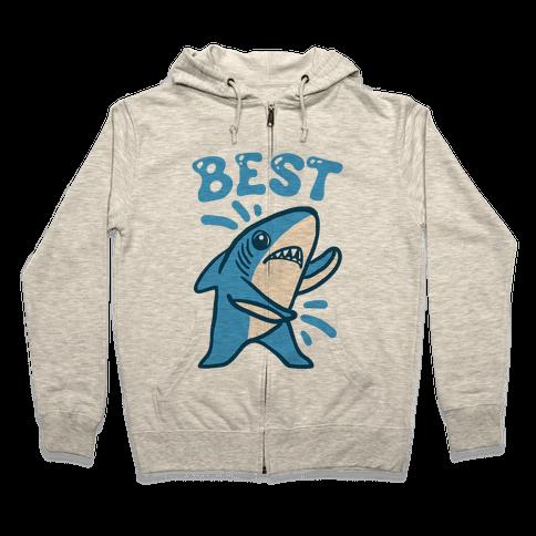 Best Friend Sharks (Part 1) Zip Hoodie