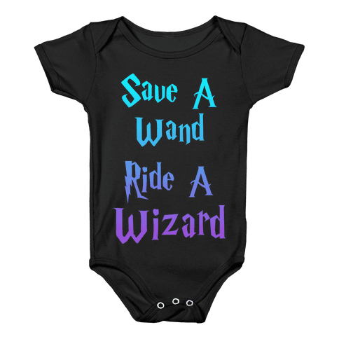 Save A Wand, Ride A Wizard (Tank) Baby Onesy