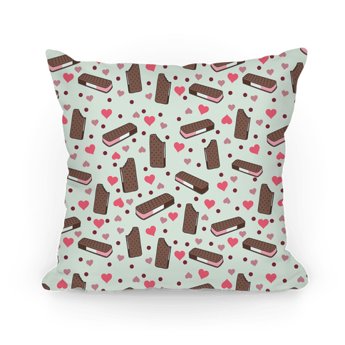 Neapolitan Ice Cream Sandwich Pattern Pillow Pillow