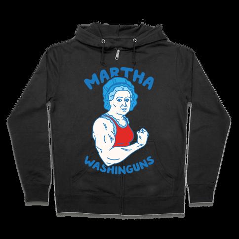 Martha Washinguns Zip Hoodie