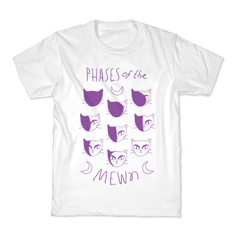 Phases Of The Mewn Kids T-Shirt